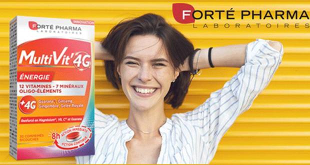 Testez Multivit' 4G des Laboratoires Forté Pharma