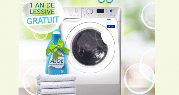 Un lave-linge séchant et un an de lessive offerts