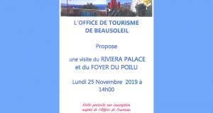 Visite guidée gratuite des Coulisses du Riviera Palace & du Foyer du Poilu