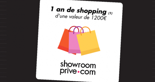 1 an de shopping Showroomprivé offert
