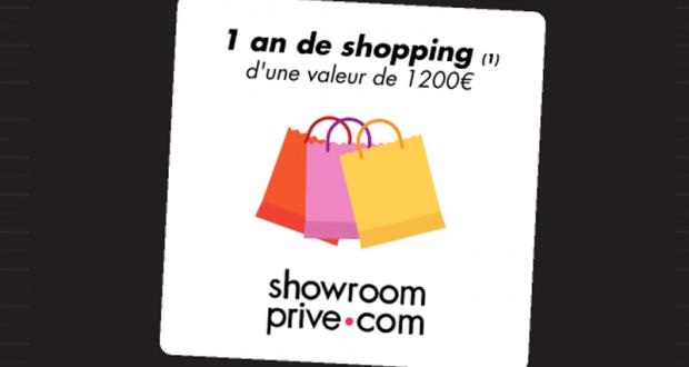 1 an de shopping Showroomprivé offert