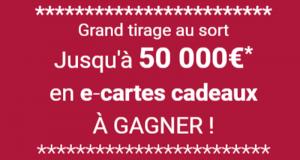 100 e-cartes cadeaux E. Leclerc de 500 euros offertes