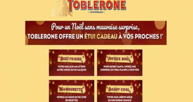 20 000 étuis Toblerone Gratuits à recevoir chez vous