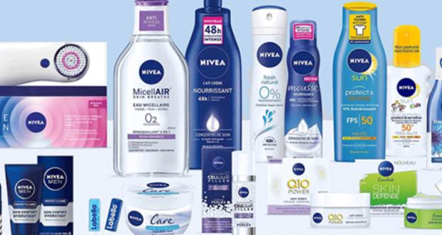 3 lots de 2 produits de soins Nivéa offerts