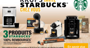 3 paquets Starbucks 100% remboursés