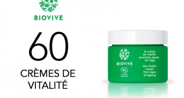 60 crèmes de vitalité Biovive à tester
