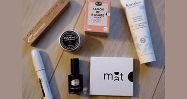 Box de produit de beauté offerte