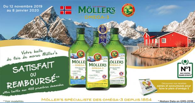 Huile de Foie de Morue Möller's 100% Remboursé