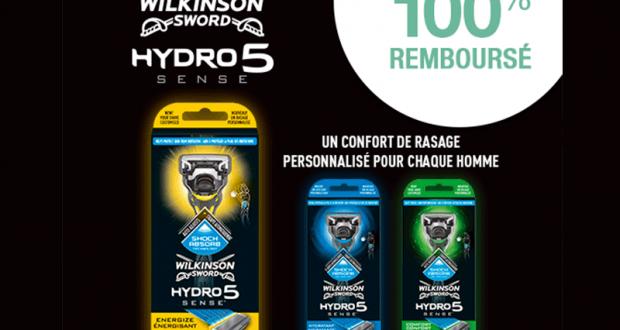 Rasoir Wilkinson Hydro 5 Sense 100% Remboursé