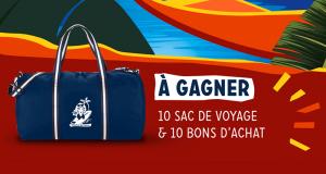 10 sacs de voyage et 10 bons d'achat Mamie Nova offerts