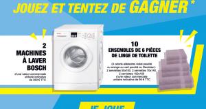 2 machines à laver Bosch et 10 lots de linge de toilette offerts
