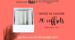 20 coffrets de 3 bracelets Les Interchangeables offerts