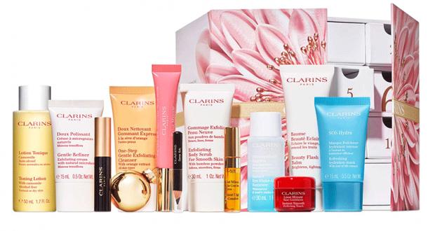 24 produits de soins Clarins offerts