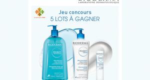 5 lots de 3 produits de soins Atoderm Bioderma offerts