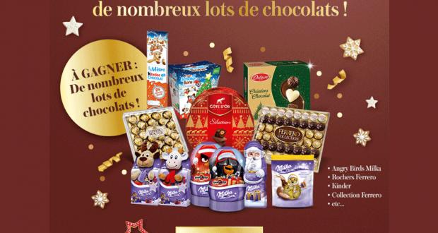 59 lots de chocolats offerts