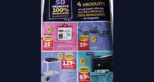Auchan 50 produits 100% remboursés