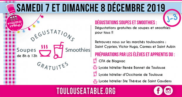 Distribution gratuite de 20 000 soupes et smoothies