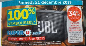 Mini enceinte Bluetooth JBL GO 2 100% remboursé