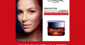 100 routines Effet Peeling Revitalift Laser X3 L'Oréal Paris à tester