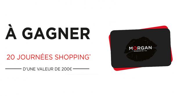 20 cartes cadeaux Morgan de 200 euros offertes