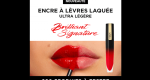 200 Encres à Lèvres Liquide Laquée Brilliant L'Oréal Paris à tester
