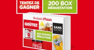 200 box dégustation Coca Fanta offertes
