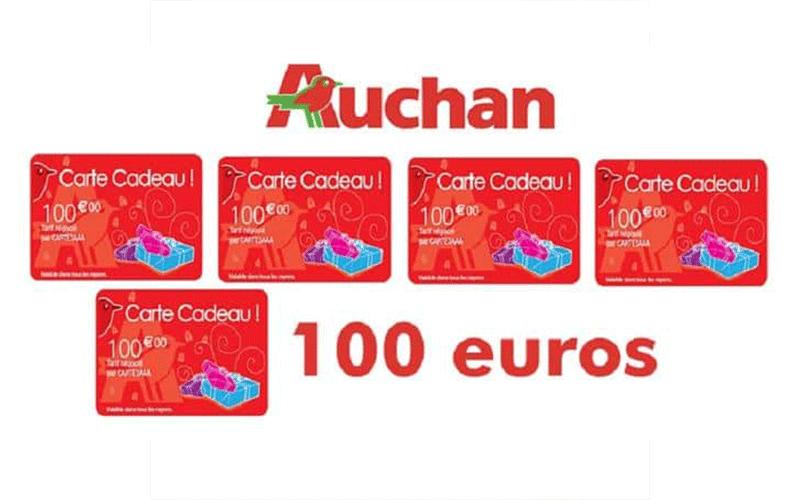 533 Cartes Cadeaux Auchan De 100 Euros Offertes