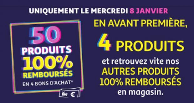 Auchan Produits 100% remboursés le 08 Janvier 2020