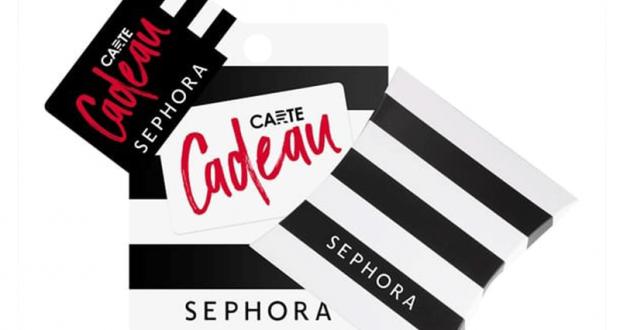 Carte cadeau Sephora de 50 euros offerte