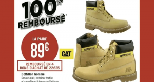 Chaussures Caterpillar remboursés à 100 %