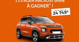 Gagnez une voiture Citroën C3 Aircross PureTech 110 S&S BVM6 Shine