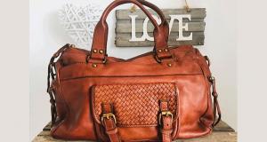 Un sac cuir vintage LILOU camel offert
