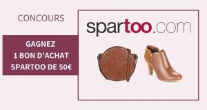 10 bons d'achats Spartoo de 50 euros offerts