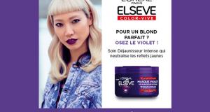 100 Masques Déjaunisseur Intense Elseve Color-Vive L'Oréal Paris à tester