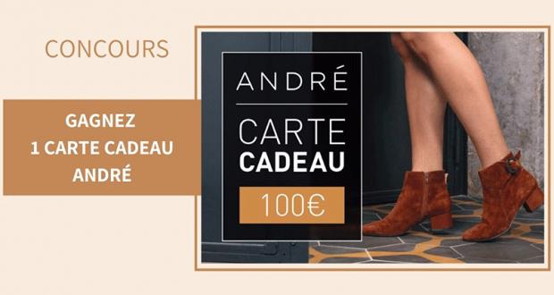 15 cartes cadeaux chaussures André de 100 euros offertes