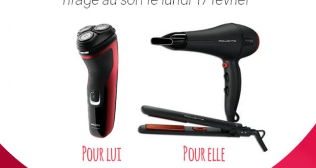2 lots de 1 sèche-cheveux + 1 lisseur Rowenta + 1 rasoir électrique Philips