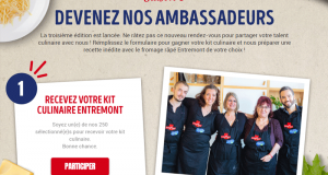 250 kits culinaires Entremont offerts