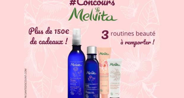 3 routines de 4 produits Melvita offertes