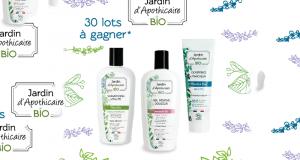 30 lots de 3 produits cosmétiques Jardin d'Apothicaire offerts