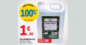 Bidon d'Eau Déminéralisée Senteur Florale - 5L 100% Remboursé