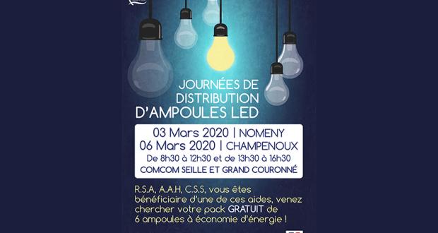 Distribution Gratuite de Packs de 6 Ampoules LED
