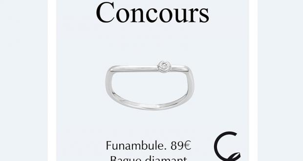 Lot de 3 bagues diamant Funambule offert