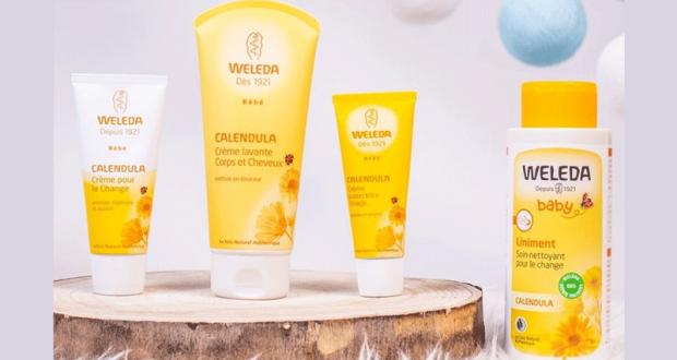 Lot de 9 produits Weleda offert