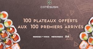 Plateau de sushi offert aux 100 premiers clients