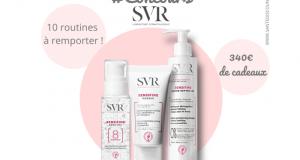 10 routines de 3 produits cosmétiques SVR offertes