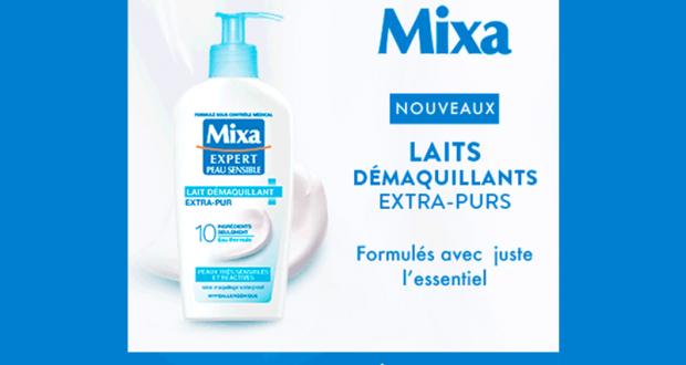 200 laits démaquillants extra-purs de Mixa à tester