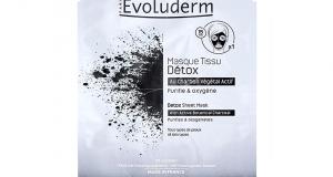 23 Masque tissu Détox – Evoluderm à tester