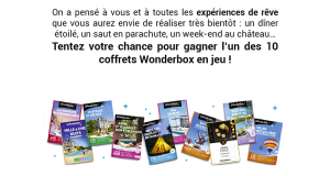 10 coffrets Wonderbox offerts