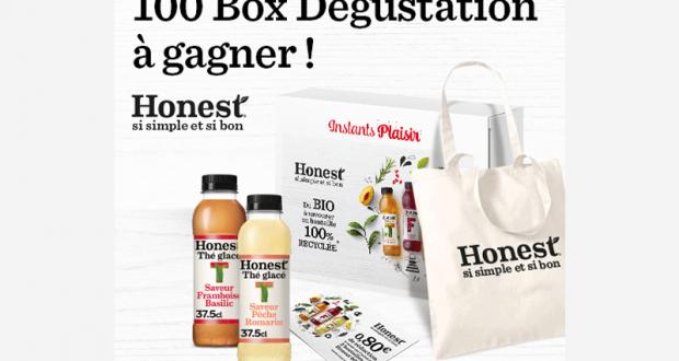 100 box dégustation Honest offertes