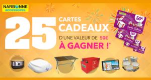 25 Cartes Cadeaux Narbonne de 50 euros offertes